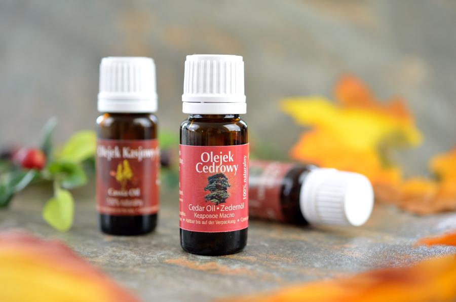olejek cedrowy - aromaterapia jesienią