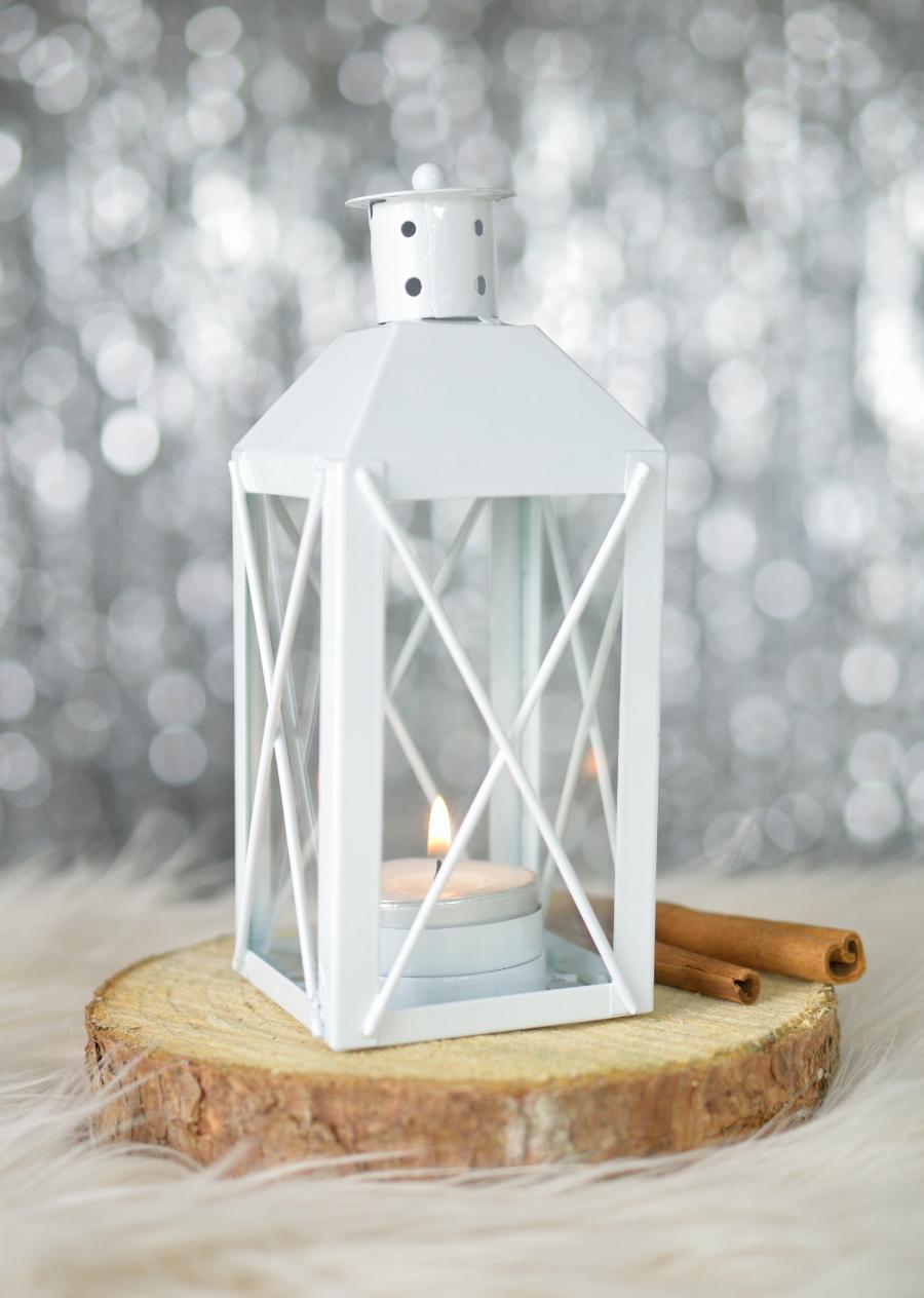 Lampion - zimowa dekoracja