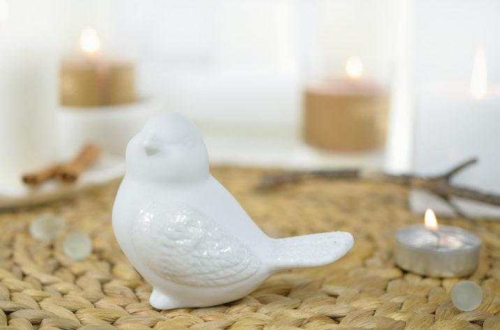 ceramiczny ptaszek - dekoracja