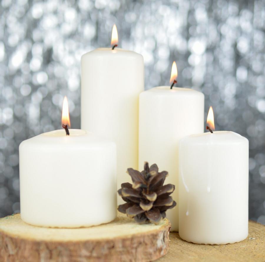 zimowe dekoracje - świece