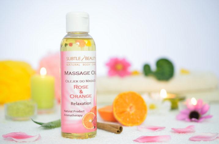 Relaksujący olejek do masażu Róża z Pomarańczą
