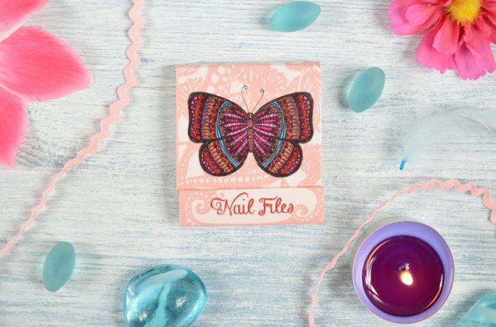 Zestaw pilniczków do paznokci Motyle
