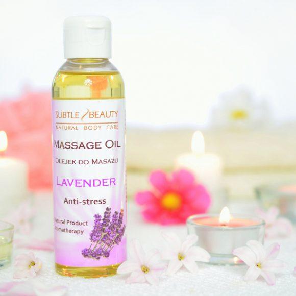 Naturalny olejek do masażu- ANTYSTRESOWY - Lawendowy
