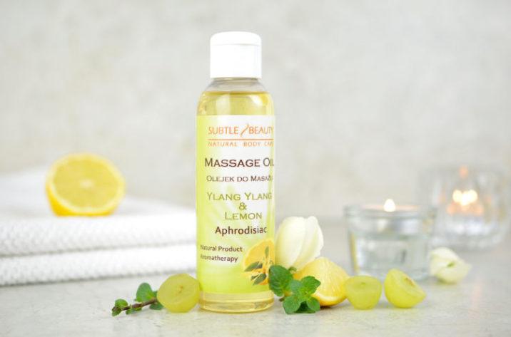 Zmysłowy olejek do masażu Ylang Ylang & Cytryna