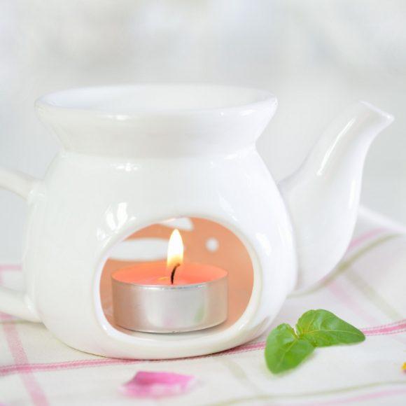 Kominek do aromaterapii Czajniczek – biały