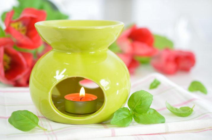 Kominek do aromaterapii - zielony