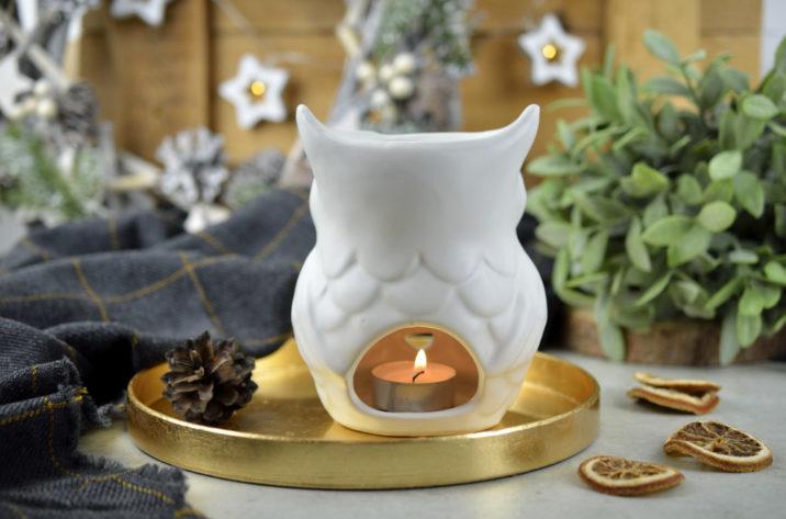Kominek do aromaterapii Sowa - glamour