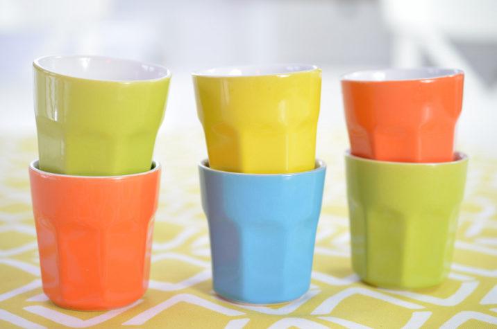 Zestaw 6 ceramicznych kubeczków do Espresso