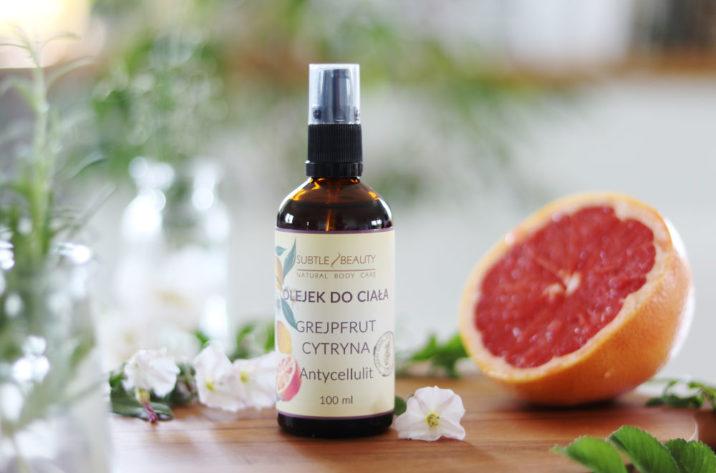 Antycellulitowy olejek do ciała - grejpfrut i cytryna