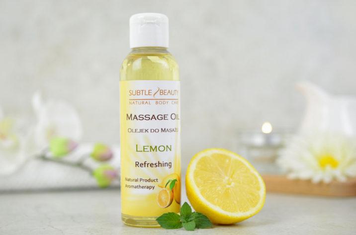 Tonizujący olejek do masażu Cytrynowy