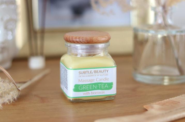 Świeca do masażu - Zielona Herbata