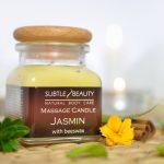 Świeca do masażu - Jaśmin