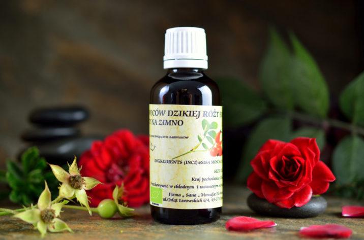Organiczny olejek z nasion dzikiej róży