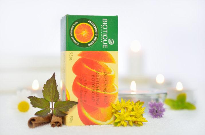 Rewitalizujące mydło z organicznym ekstraktem z pomarańczy