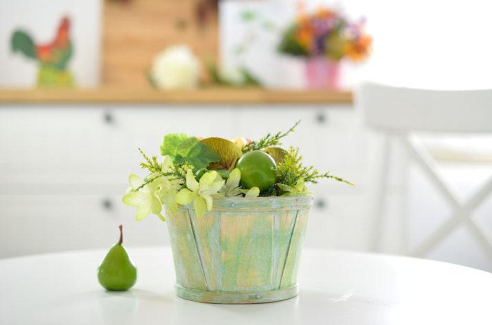 Dekoracja stołu - stroik z owocamiDekoracja stołu - stroik z owocami