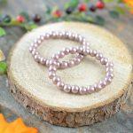 komplet bransoletek perłowych