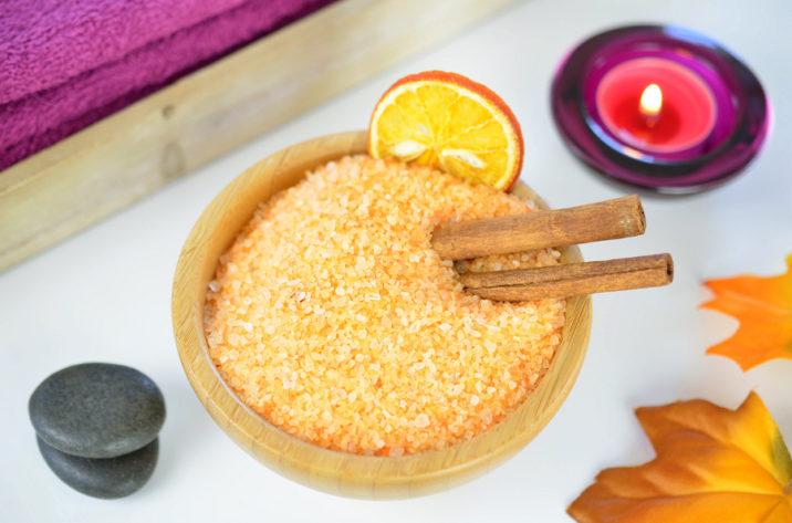 Sól do kąpieli cynamon z pomarańczą