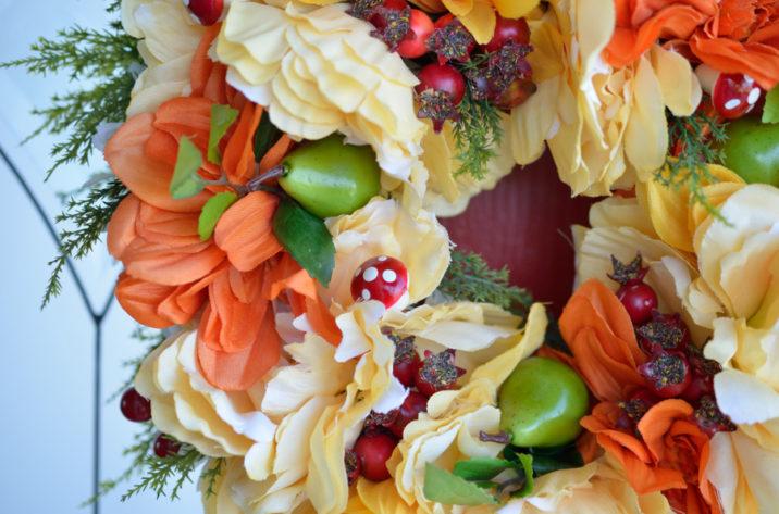 Jesienny wianek z daliami