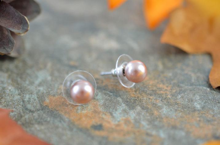 kolczyki perły wkrętki