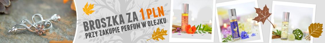 Promocja broszka za 1 zł przy zakupie perfum w olejku