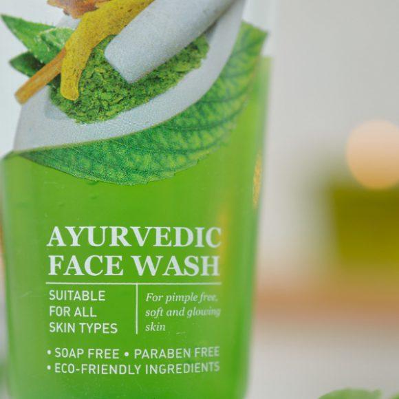 Ajurwedyjski żel do mycia twarzy z neem, kurkumą i aloesem