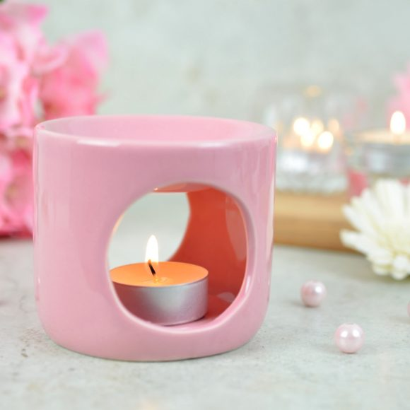 kominek do aromaterapii różowy