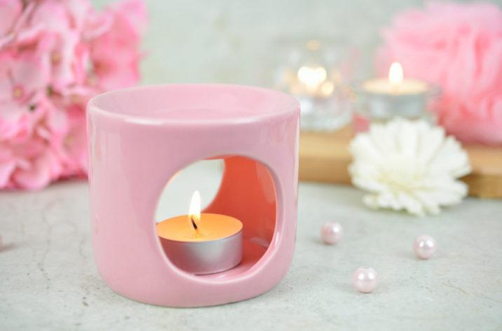 Kominek do aromaterapii Deco – pudrowy róż