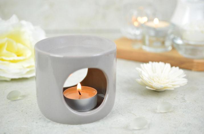Kominek do aromaterapii Deco – szary
