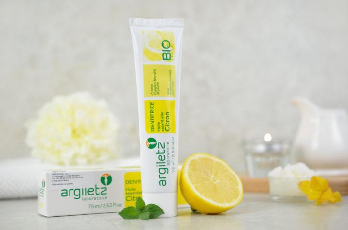 Organiczna pasta do zębów z olejkiem cytrynowym i naturalną glinką