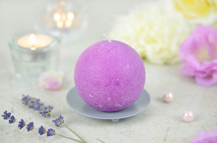 Świeca kula - fioletowa
