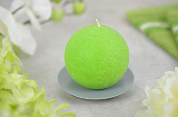 Świeca kula – zielona