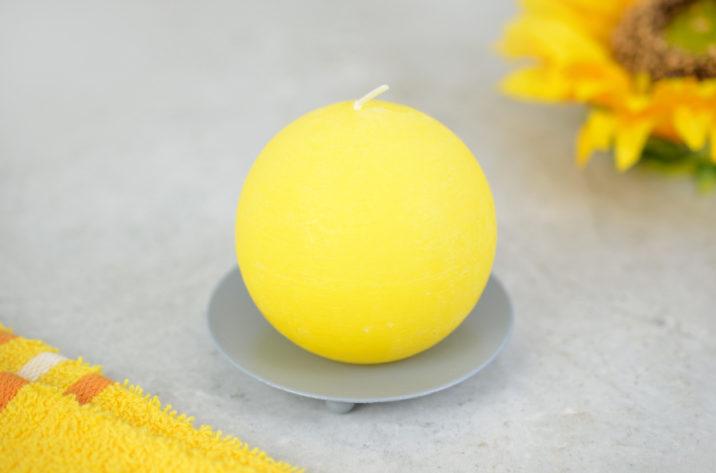 Świeca kula – żółta