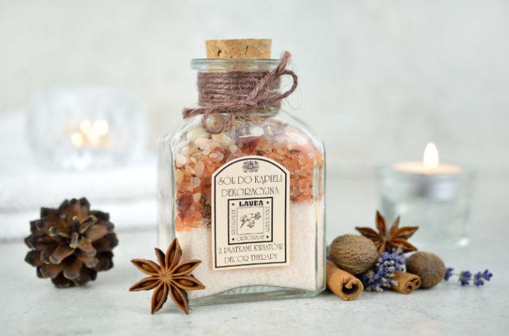 Dekoracyjna sól do kąpieli z mandarynką