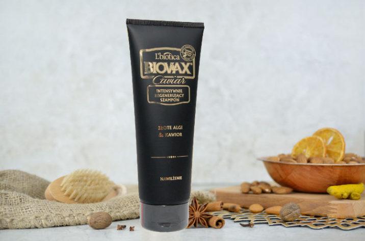 Intensywnie regenerujący szampon do włosów z ekstraktem z kawioru i złotych alg