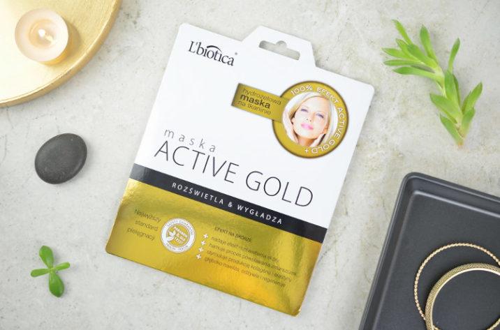 Hydrożelowa maska z aktywnym złotem
