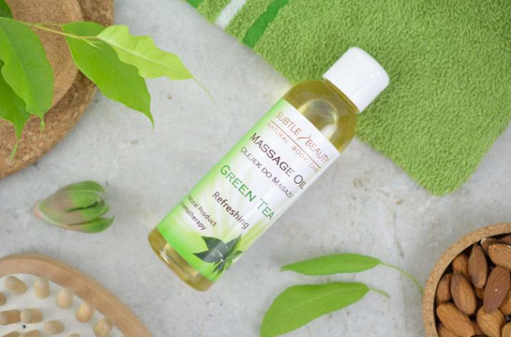 Orzeźwiający olejek do masażu Green Tea