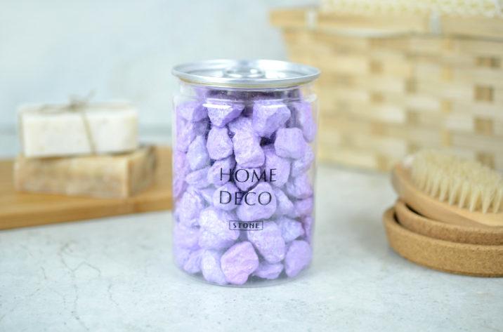Dekoracyjne kamyczki – perłowy fiolet