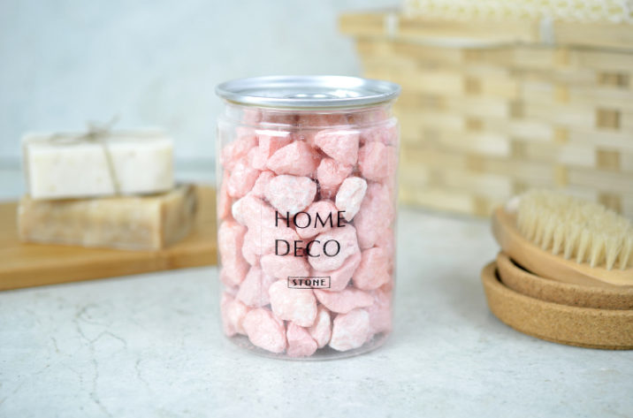Dekoracyjne kamyczki - perłowy, jasny róż