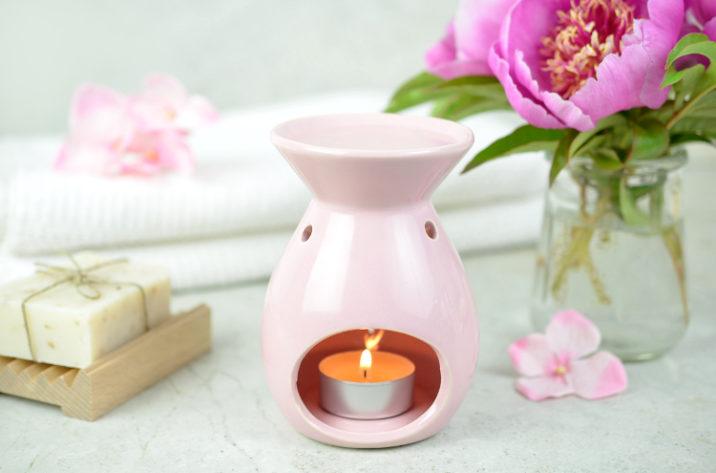 Kominek do aromaterapii Bloom – pudrowy róż