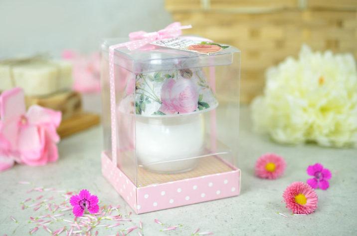 Świeczka zapachowa - różana lampka