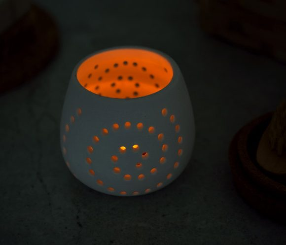 Ceramiczny świecznik LED