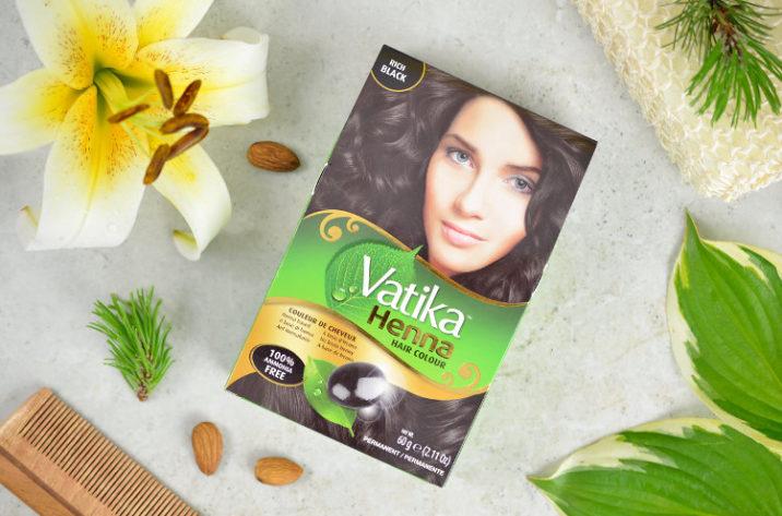 Vatika Farba do włosów z henną – głęboka czerń