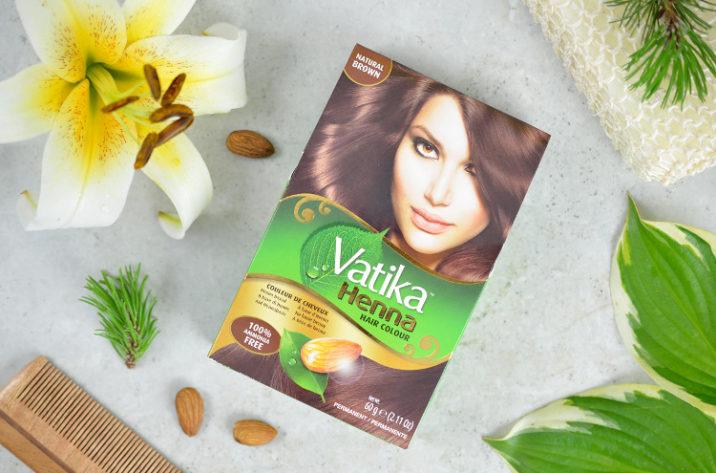 Vatika Farba do włosów z henną - naturalny brąz