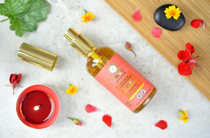 Khadi Ajurwedyjski olejek do twarzy i ciała z hibiskusem