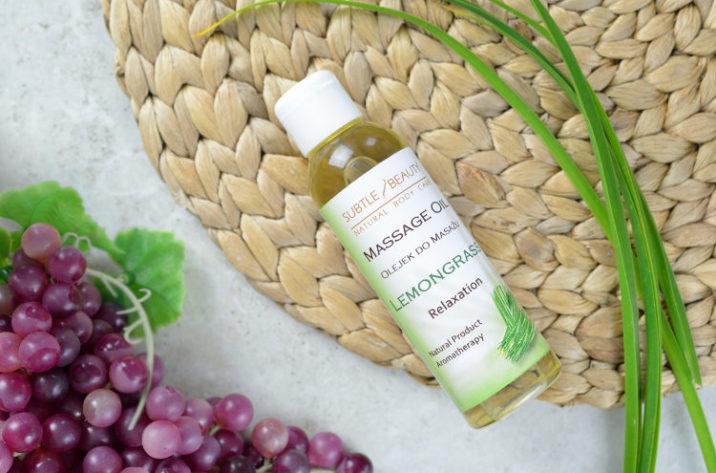 Relaksujący olejek do masażu Lemongrasowy