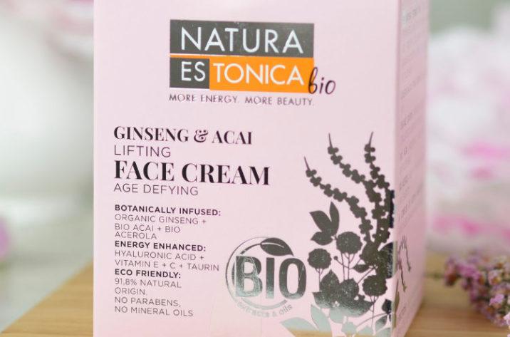 Liftingujący krem do twarzy z organicznymi ekstraktami żeń-szenia, acai i aceroli