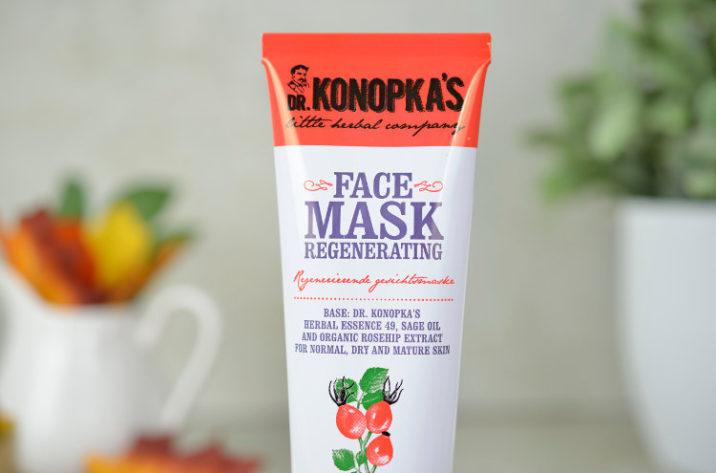 Regenerująca maseczka do twarzy z ekstraktem z dzikiej róży