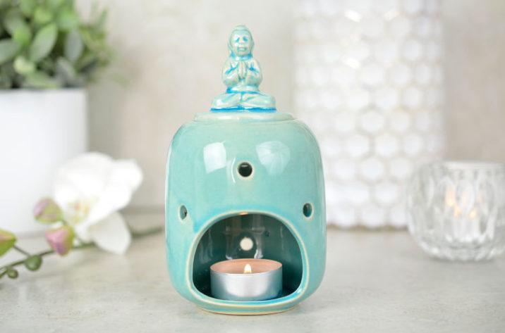 Kominek do aromaterapii Budda – morska zieleń