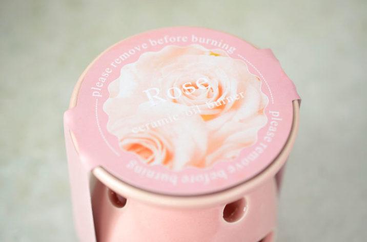 Kominek zapachowy z woskiem - róża