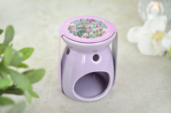 Kominek zapachowy z woskiem – lawenda